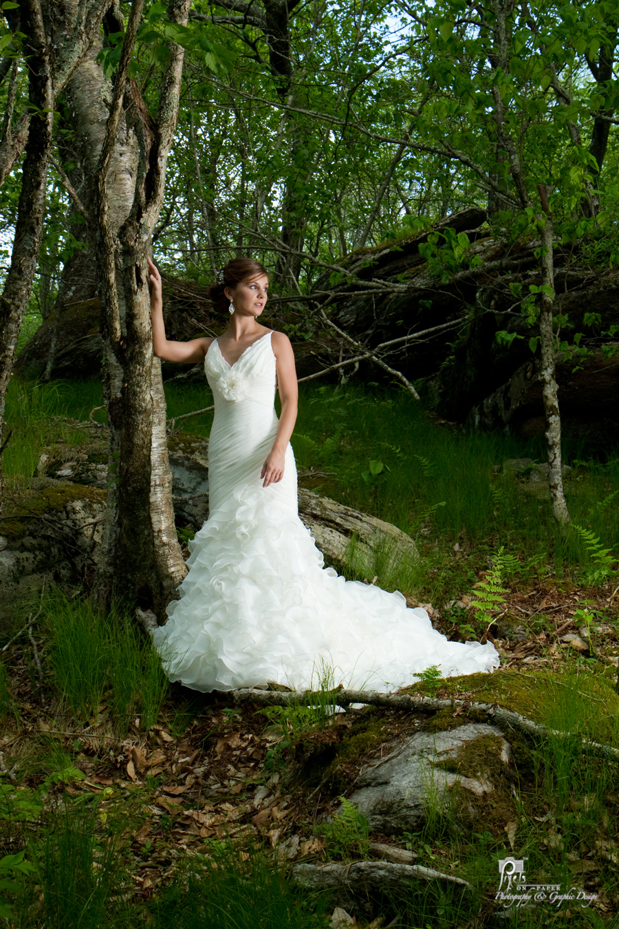 Ericas High Fashion Bridal Photos In The Carolina Mountains