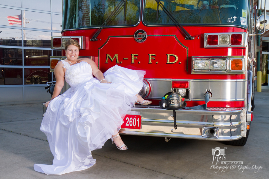 Fire Truck Wedding Cake