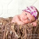 Newborn Baby Ivy Pixels On Paper Portrait Photo