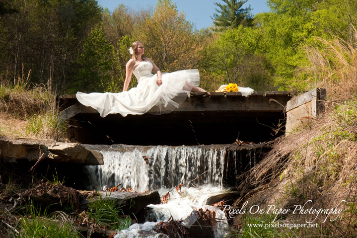pixels on paper nc mountain outdoor bride photo