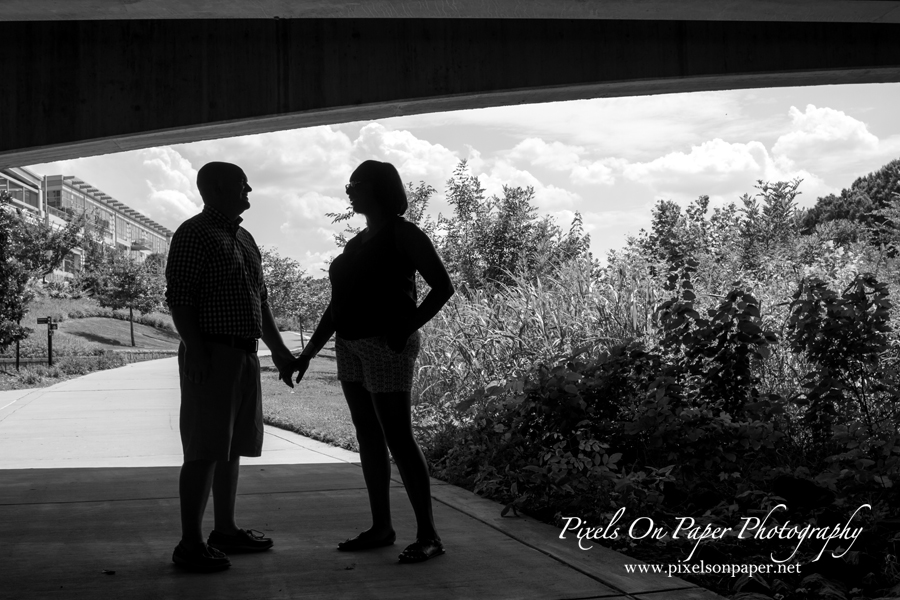 Pixels on Paper engagement photos of Sherae Jones and David Johnson, Charlotte NC, Little Sugar Creek Greenway photo