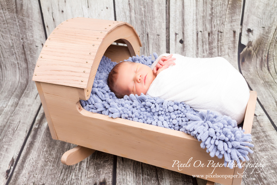Pixels on Paper Newborn photo shoot of Conner Tevepaugh photo