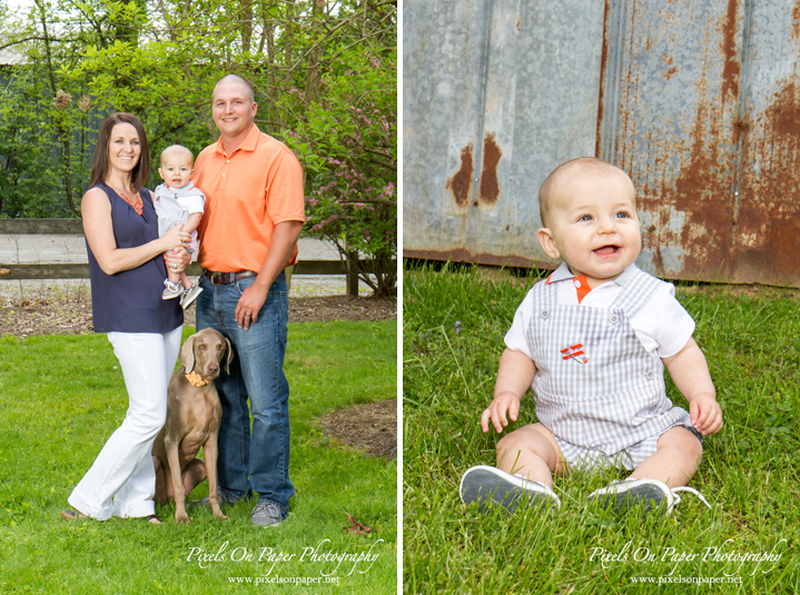 Brock's 6 month baby photography, pixels on paper studio family portrait photography photo