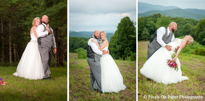 Boone Blowing Rock NC wedding photographers Pixels On Paper Lansing NC On The Windfall Outdoor Mountain Wedding Photo