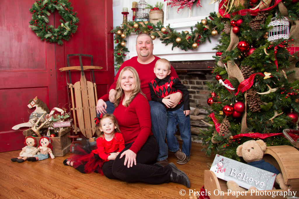 Pixels On Paper Christmas Holiday Portrait Studio Sessions 2015 Photo