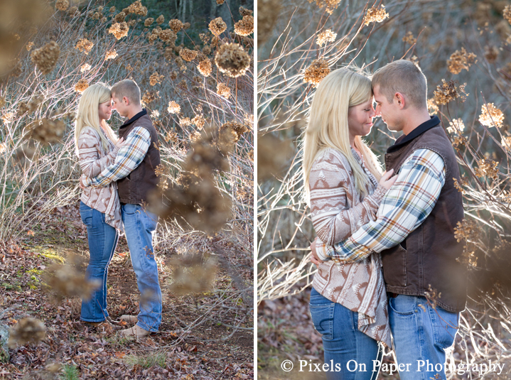 Elisabeth Bolick and Isaac Spillman blowing rock nc engagement after session photos