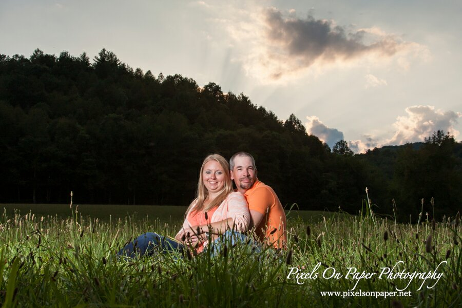 Pixels on Paper engagement portraits outdoors - 2015 highlights photo