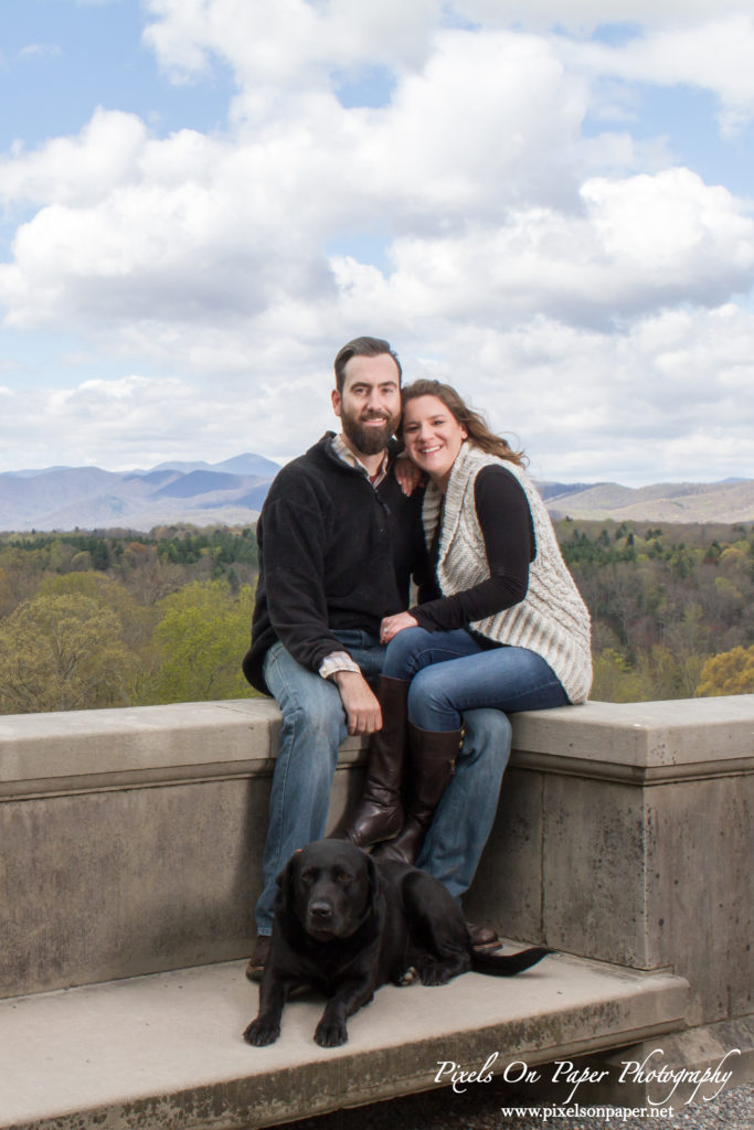 Pixels On Paper wedding photographers. Biltmore Estate engagement portrait Asheville NC photo