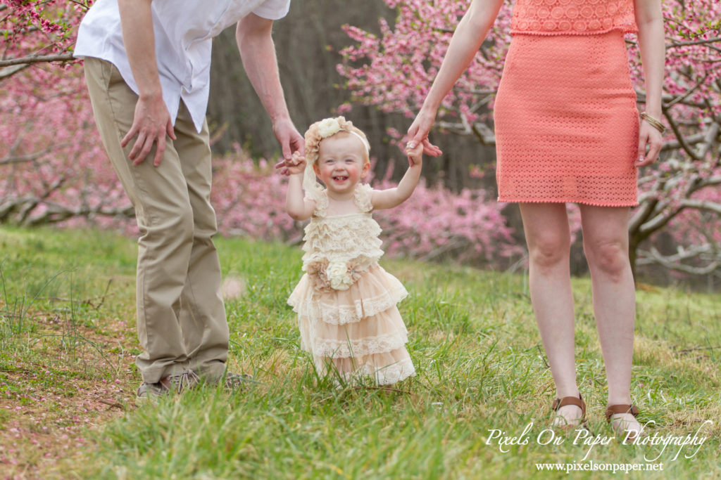 Arnold family outdoor spring 2016 peach orchard photos