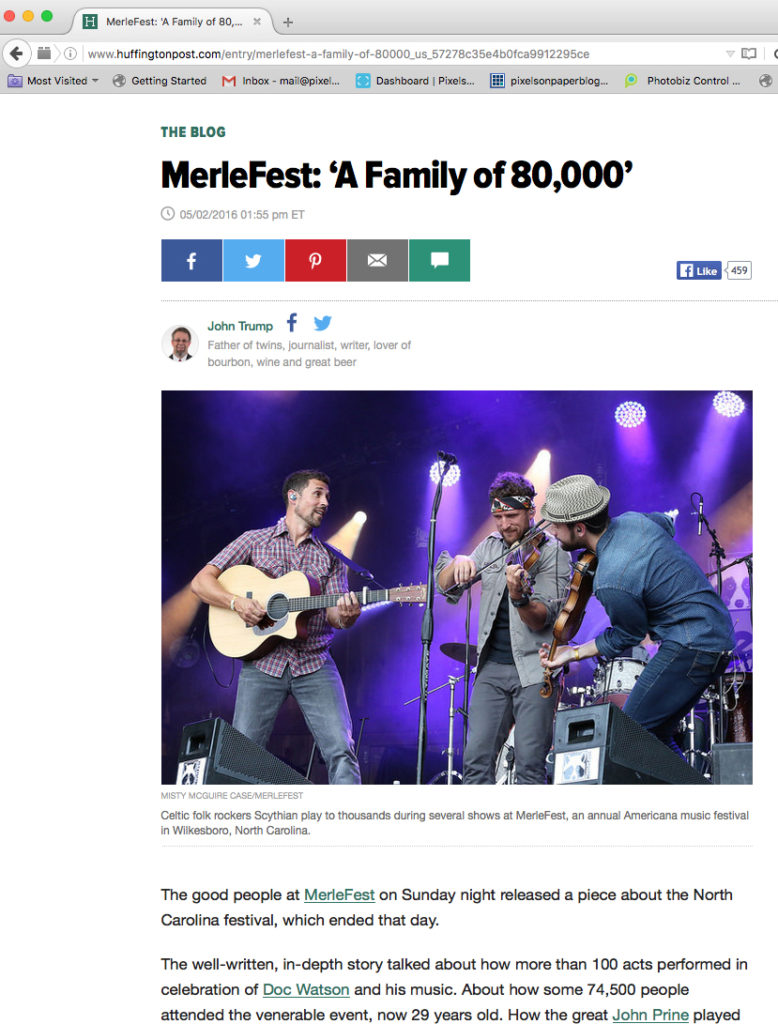 Pixels on Paper Photography Merlefest 2016 Huffington Post photo