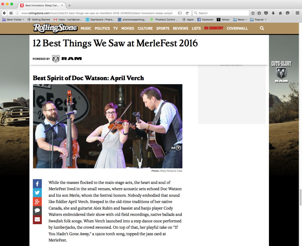 pixels on paper photography merlefest 2016 rolling stone photo