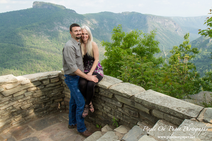 NC Blue Ridge Mountains engagement portraits