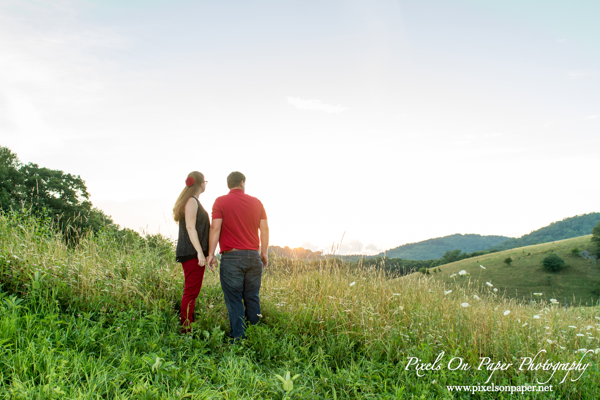 Blowing Rock NC wedding photographer, pixels on paper photographers outdoor engagement photo