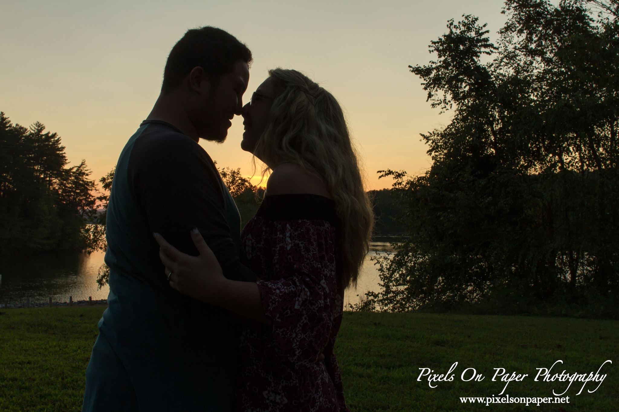 Outdoor NC Mountain, Kerr Scott Lake Engagement portrait photography by Wilkesboro, Boone, Blowing Rock NC Photographers Pixels On Paper photo