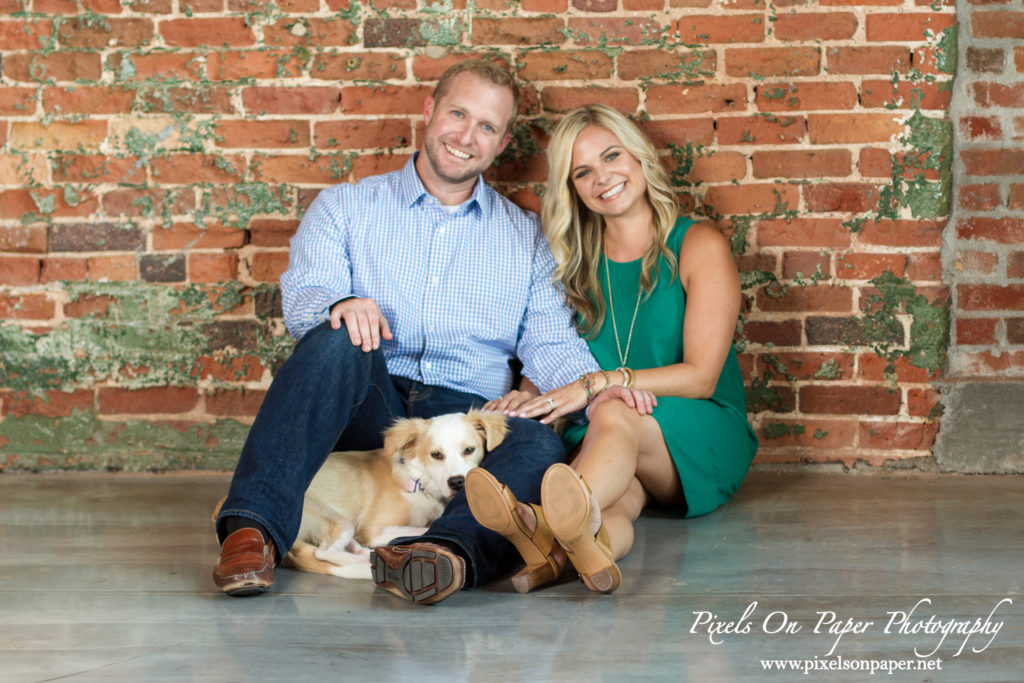 Loray Mill Gastonia NC engagement portrait photography by Wilkesboro NC Photographers Pixels On Paper photo
