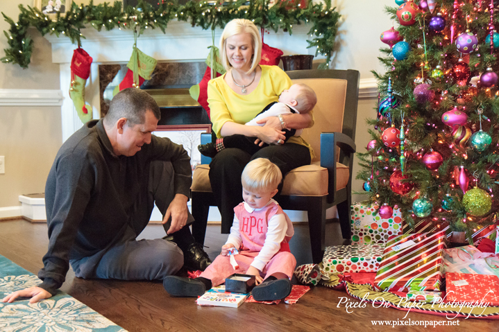 Pixels On Paper Wilkesboro NC documentary lifestyle photographers Pierce Family In home Christmas Photos