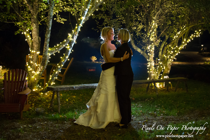 Amanda Walling and Bonnie Hostetler On The Windfall outdoor Wedding West Jefferson NC photo