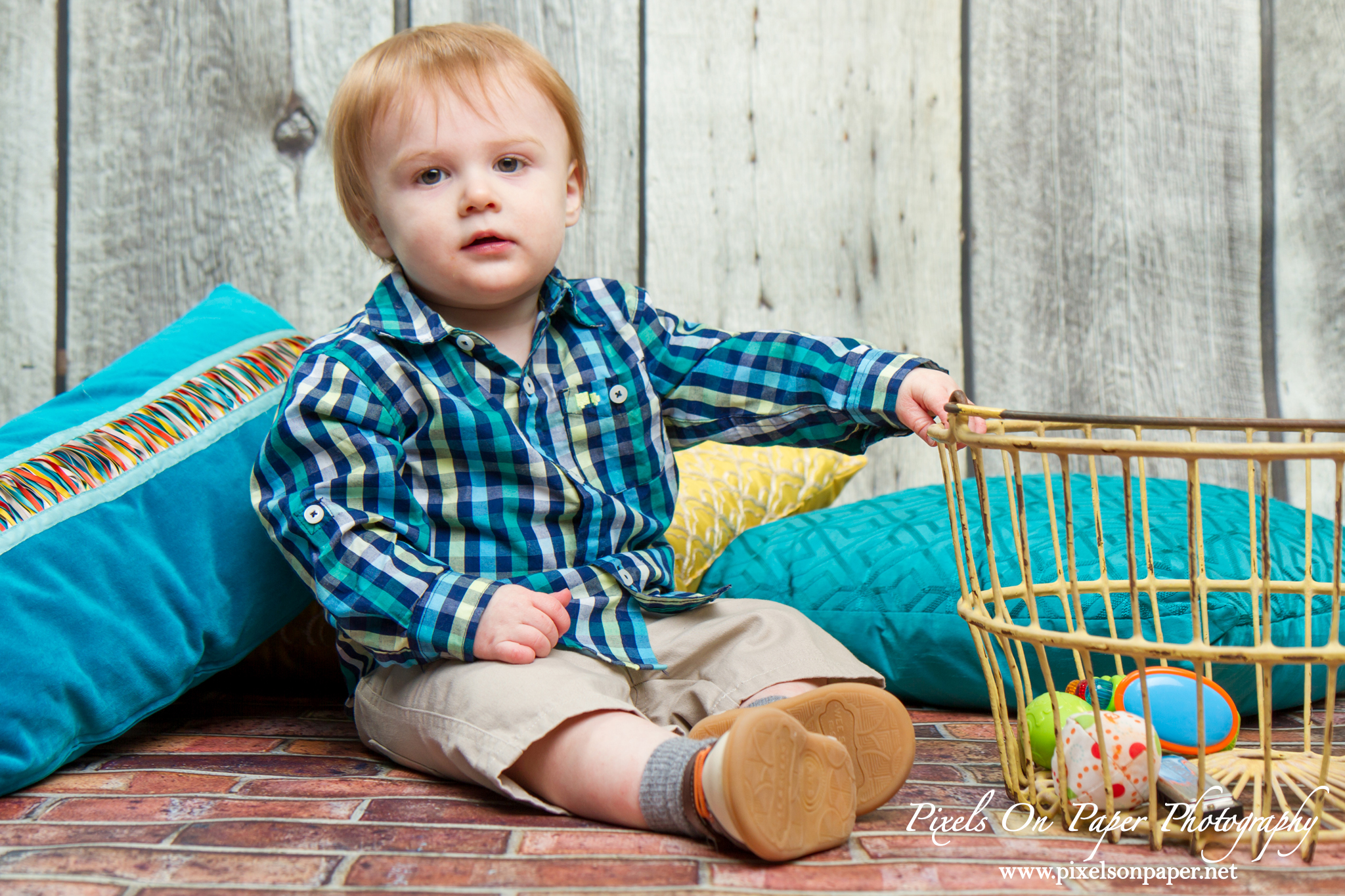 Flynn Lundy One Year Photography by Pixels On Paper Portrait Photography Photo