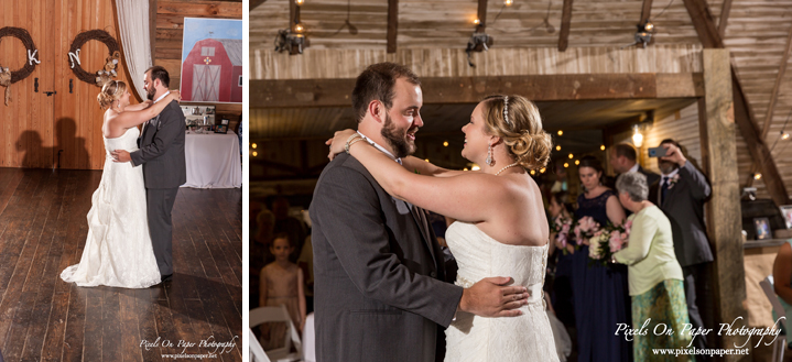 Kendra and Nathan's Barn at Blueberry Hill Elkin Outdoor Wedding Pixels On Paper Photography NC wedding photographers photo