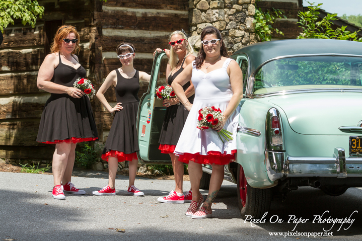DeMaio / Gross Merle Watson Stage Rockabilly Styled Outdoor Wedding Photo by Pixels On Paper Photography Wilkesboro NC Photographers photo