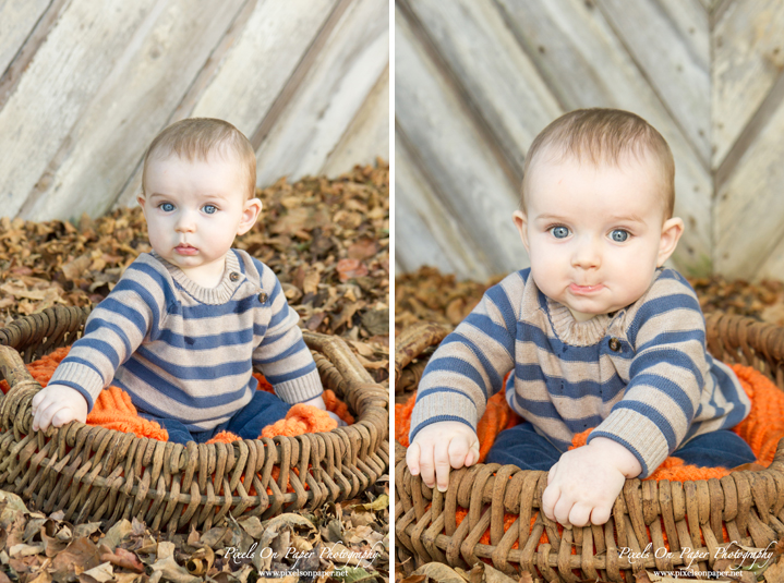 Pixels On Paper Photographers Six Month Outdoor Fall Child Portrait Wilkesboro NC Photography Photo